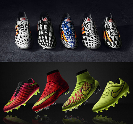 Nike Adidas Boots World Cup 2014