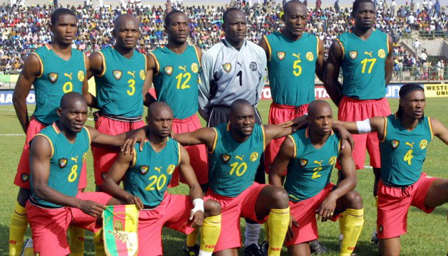 Cameroon 2002 sleeveless football shirts