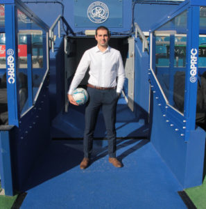 André at the Loftus Road Stadium.