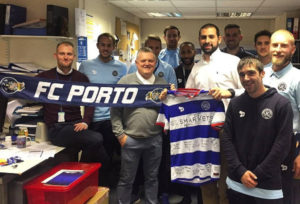 André's last day at QPR. A final photo with the team and a little exchange of gifts.